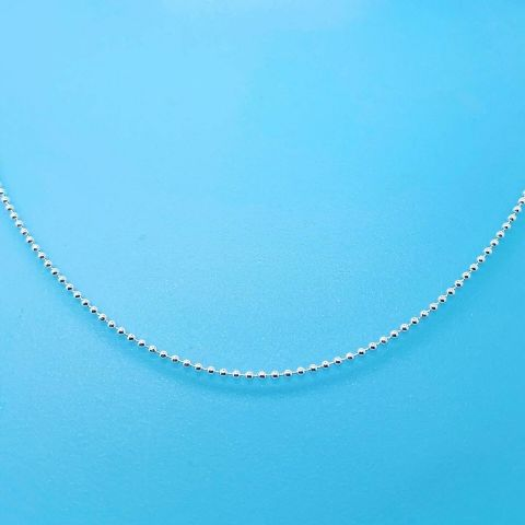 Genuine 925 Sterling Silver Tiny Beads Link Chain Available In Different Lengths